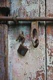 锁和门窗等之搭扣 图库摄影