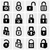 锁在灰色设置的传染媒介象 免版税库存图片