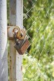 锁在篱芭 图库摄影