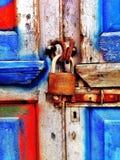 锁在英国 库存照片