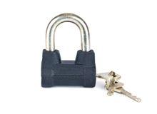 锁定与关键字 免版税图库摄影