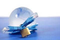 锁定世界的网络 免版税图库摄影