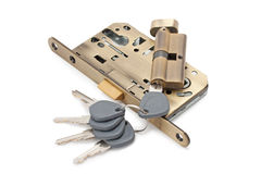 锁定和关键字 图库摄影