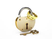 锁定和环形 免版税库存照片