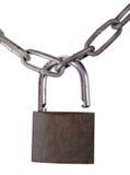 锁定和链子 免版税图库摄影