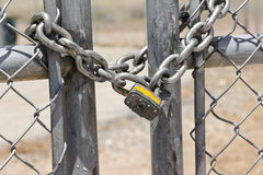 锁定在安全门 免版税库存照片