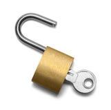 锁定开放填充 免版税库存图片