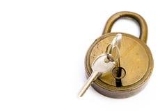 锁定开锁 免版税库存照片
