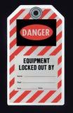 锁定标签 图库摄影