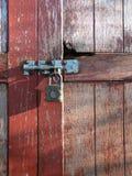 锁定生锈的老 免版税库存照片