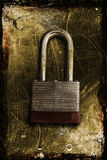锁定生锈 库存图片