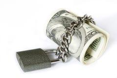 锁定货币 免版税图库摄影