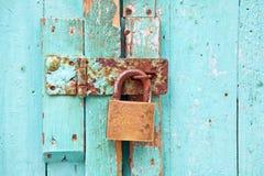 锁定铁锈 库存照片