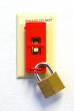 锁定Tagout 库存照片