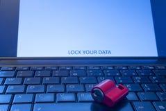 锁您的数据 库存图片