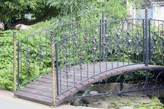 锁桥梁 免版税库存照片