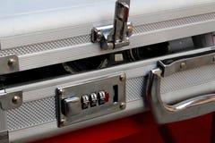 锁的编码号手提箱背景 库存图片