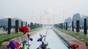 锁着在泰姬陵的射击,阿格拉,北方邦,印度 股票视频