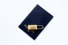锁着的个人数据 免版税库存照片