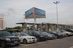 锁着的汽车在深圳 免版税库存图片