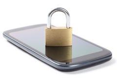 锁着的电话-储蓄照片 免版税库存图片