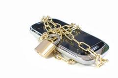 锁着的移动电话 免版税库存照片