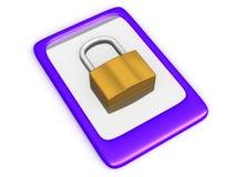 锁着的触摸板 免版税库存图片