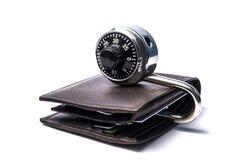 锁着的钱包 免版税库存图片