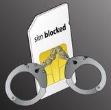 锁着的sim 免版税库存照片