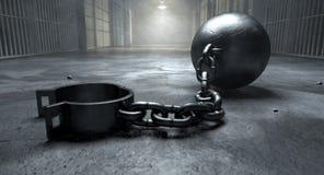 锁链在监狱 图库摄影