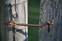 锁门到庭院 免版税图库摄影
