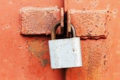 锁门锁 库存图片