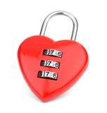 锁以心脏的形式 库存照片