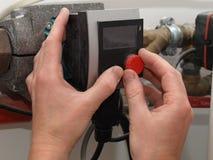 锅炉凝聚的控制 图库摄影