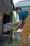 锅炉木头 库存图片