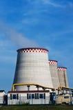 锅炉烟囱天空 免版税库存照片