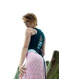 锋利时装模特儿摆在 图库摄影