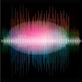 锋利的五颜六色的信号波形 免版税库存照片