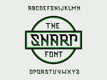 锋利的字体 scrapbooking向量的字母表要素 向量例证