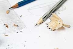 锋利的灰色铅笔 库存图片