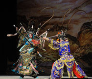 """锋利的眼睛和杨Family†的敏捷手或灵活手指北京Opera""""妇女将军 图库摄影"""