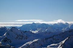 锋利阿尔卑斯奥地利的峰顶 库存照片