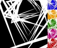 锋利,有角背景在6种颜色设置了 库存照片