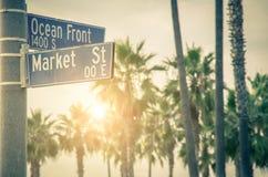 洋锋步行,威尼斯海滩 免版税库存照片