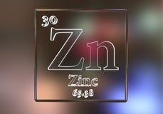 锌化学元素 图库摄影