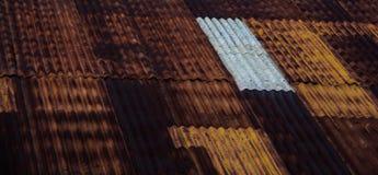 锌屋顶 免版税库存图片