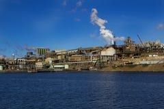 锌工作,霍巴特塔斯马尼亚岛 免版税图库摄影