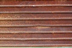 锌纹理/生锈的波状钢纹理 库存图片