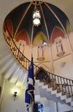 错觉性楼梯在密执安教会里 库存图片