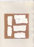 从错觉撕毁的我的纸被扫描让路给您写 用于站点的柱子集合 免版税库存图片